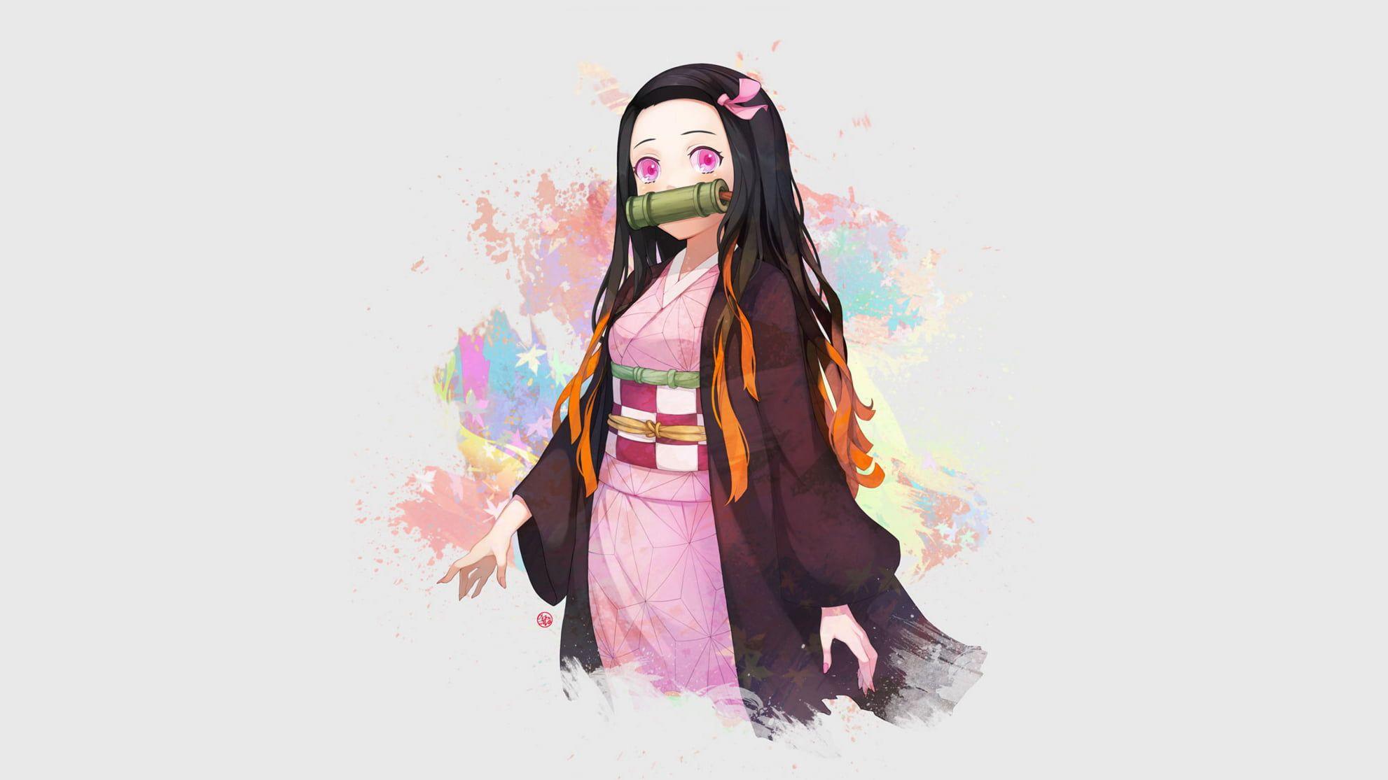 Kamado Nezuko Kimetsu no Yaiba manga anime anime girls