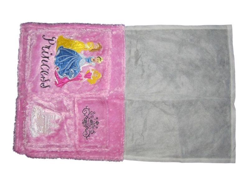 Girl Princess Pink Fuzzy Under The Mattress Bedside Book Storage Organizer