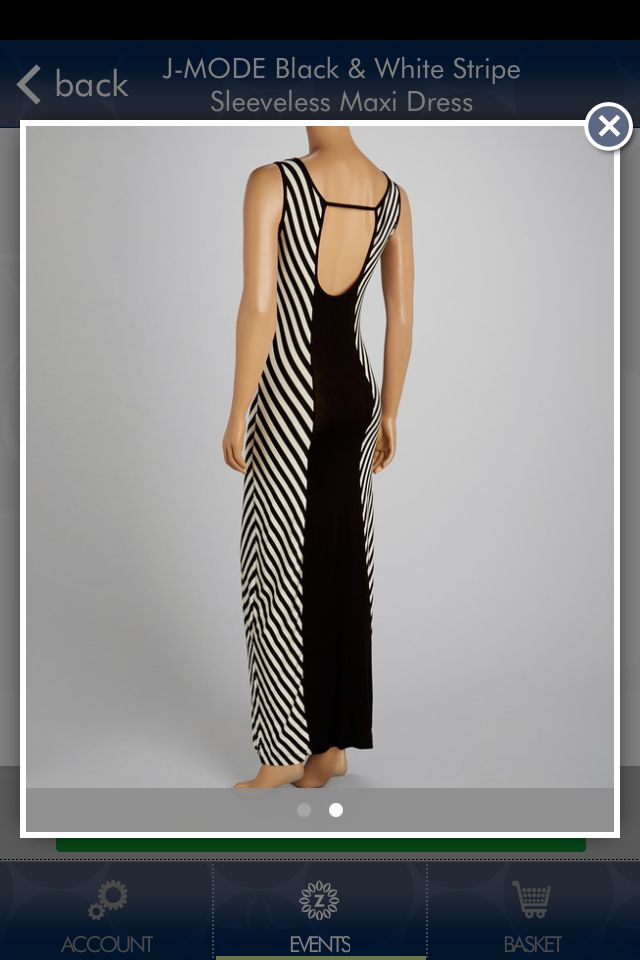 Back of black & white maxi