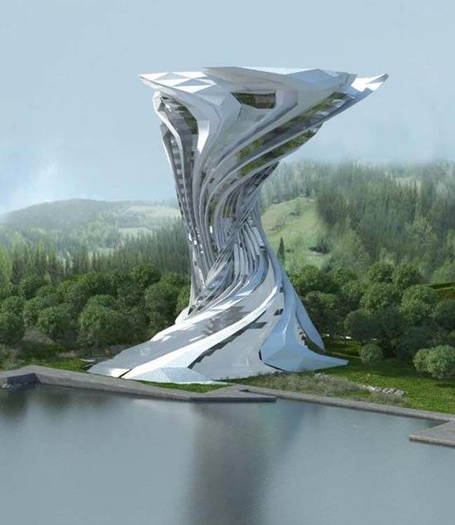 SciFi concept by Skyler ARQ is part of architecture House Nature Loft - The ESSÂM Centre is a SciFi concept design for a hotel in Chiapas, Mexico  The project was designed by Skyler   ARQ that combines futuristic architecture with recovered elements