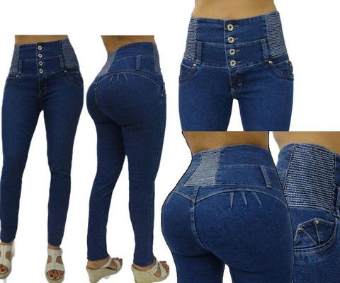 42af2d80a86807 ORIGINAL COLOMBIAN JEAN FOR ONLY $34.99 Premium Levanta Cola Push-up Medium  Blue HIGH WAIST Rise Skinny Jeans Brand: Divas Find this at Dress World:  trendy ...