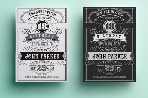 Vintage birthday invitation lettering pinterest vintage invitation templates vintage birthday filmwisefo