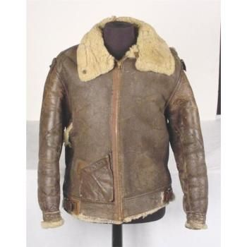 MEB : WWII US B3 Bomber Jacket Leather Wool Lined Size 40 | my ...