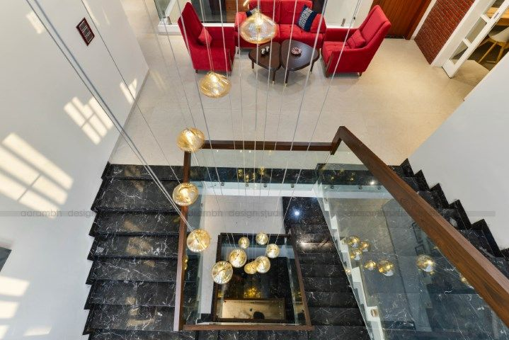 Contemporary Indian House In Indore Indian Homes Stairway
