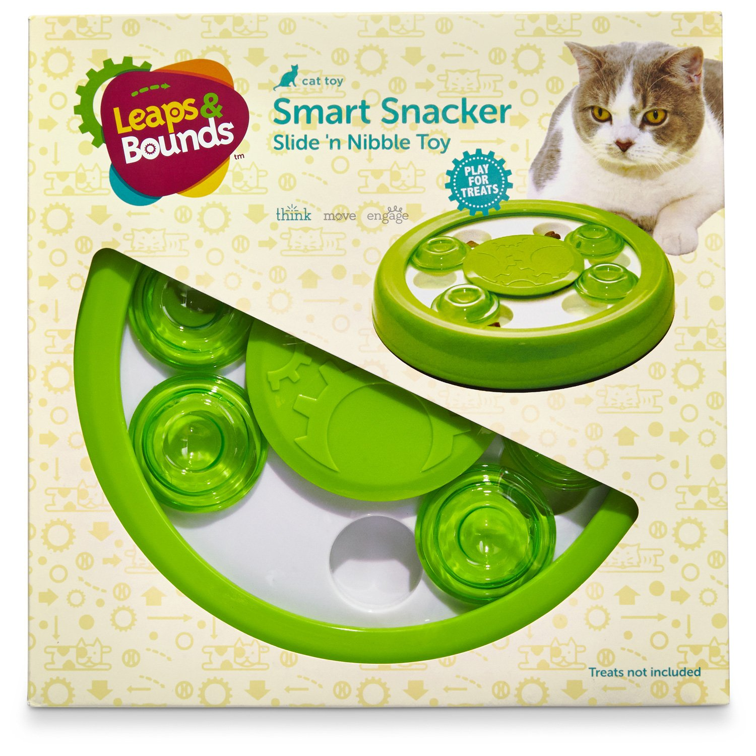 Leaps Bounds Slide N Nibble Treat Toy 9 Diameter Petco Store Cat Toys Kitten Toys Interactive Cat Toys