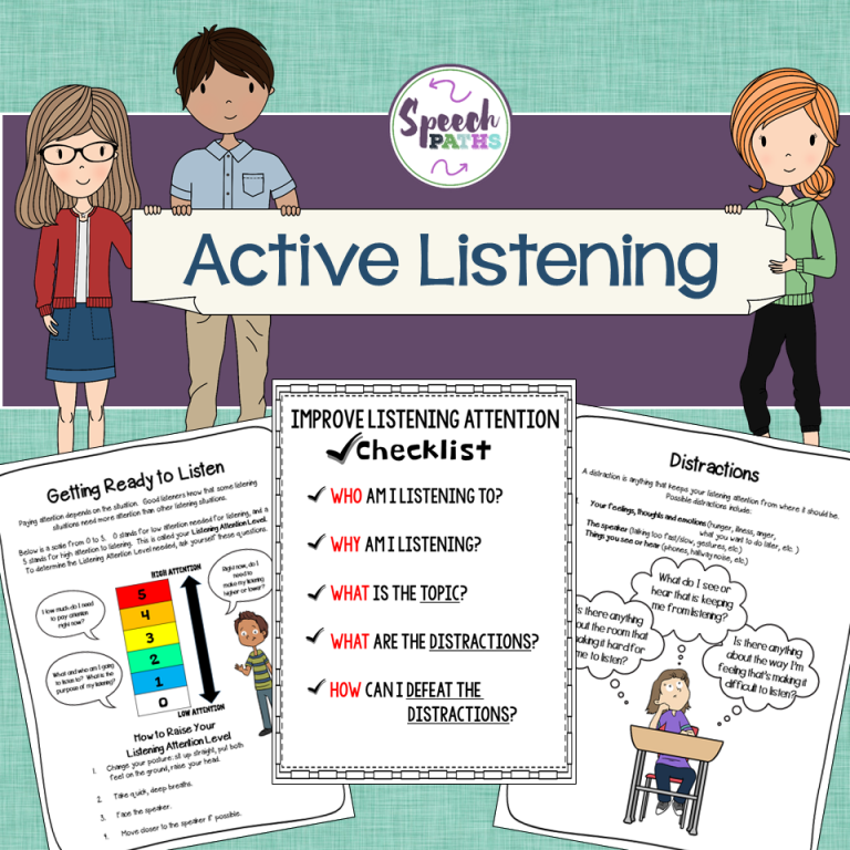 Active Listening Skills: Activities for Middle School Students