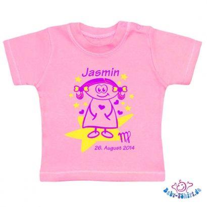 Witzig Bedrucktes Baby T Shirt Mit Sternzeichen Jungfrau Name
