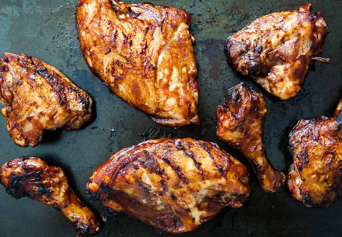 Grilled Bbq Chicken How To Guide Recipe Grilled Bbq Chicken Grilling Recipes Sides Grilled Chicken Recipes