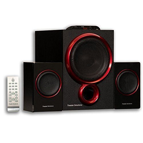 Surround Sound Systems By Goldwood Bluetooth 2.1 Speaker 2.1-Channel Home Black