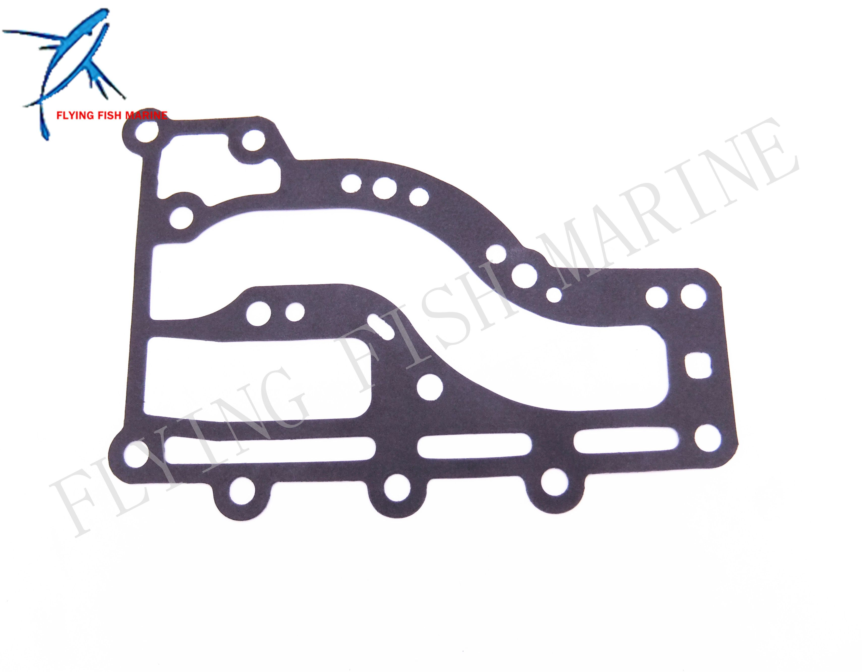 63v 41112 A0 Boat Motor Exhaust Cover Gasket For Yamaha 2 Stroke 9 9hp 15hp Outboard Engine Free Shipping Outboard Boat Vehicle Parts