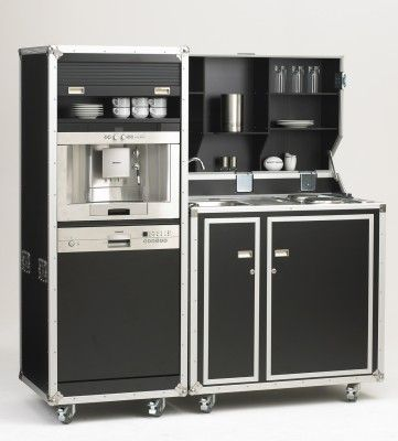 kofferk che pro art kitcase 104 cm schwarz mit k hlschrank bb kitchen pinterest mobile. Black Bedroom Furniture Sets. Home Design Ideas