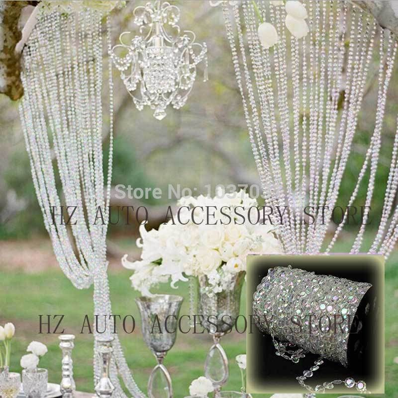 30m diy iridescent garland diamond acrylic crystal beads strand 30m diy iridescent garland diamond acrylic crystal beads strand shimmer wedding decoration free shipping in junglespirit Choice Image