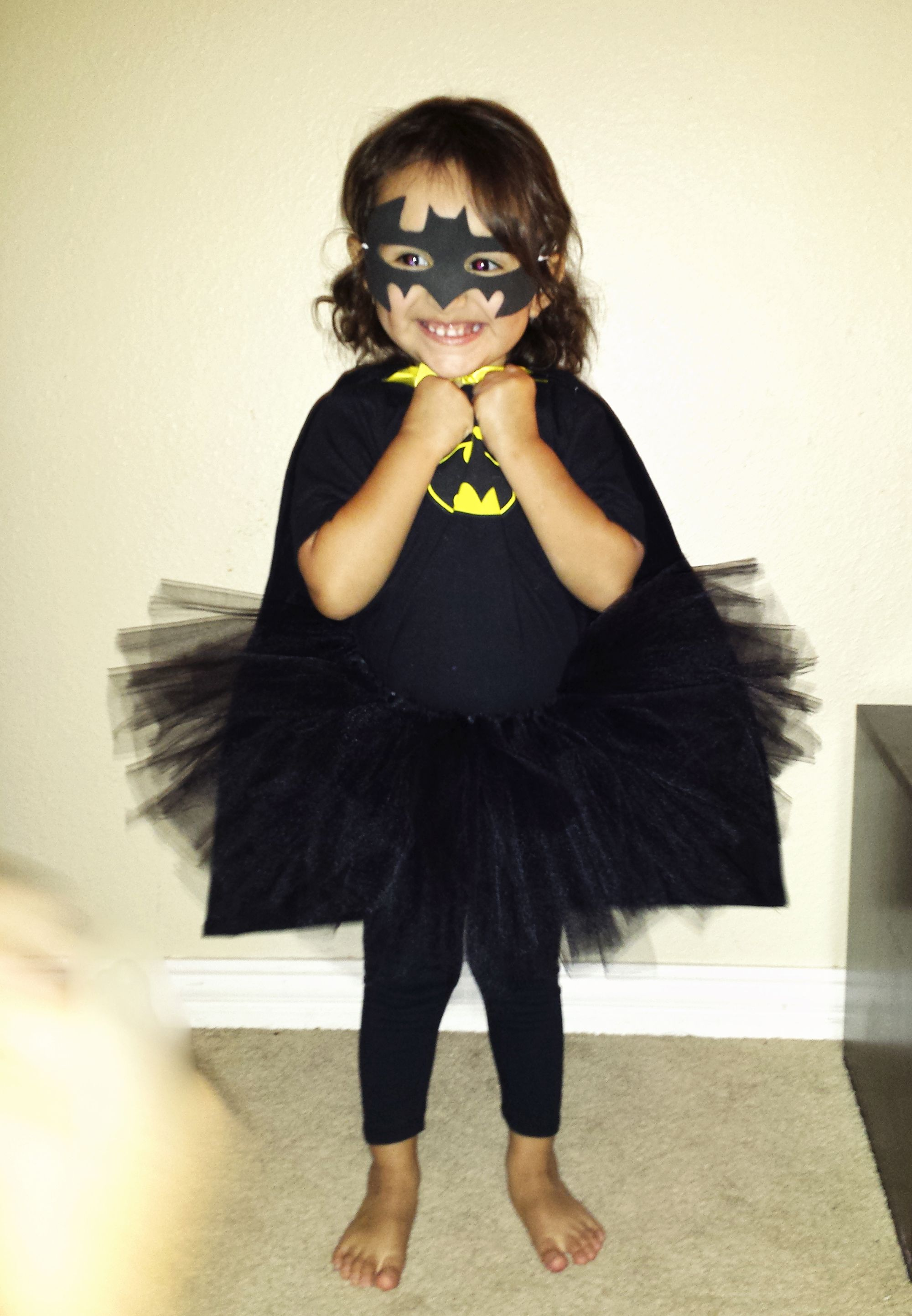 DIY No-Sew Batman | Batgirl costume, Batgirl and Tutu