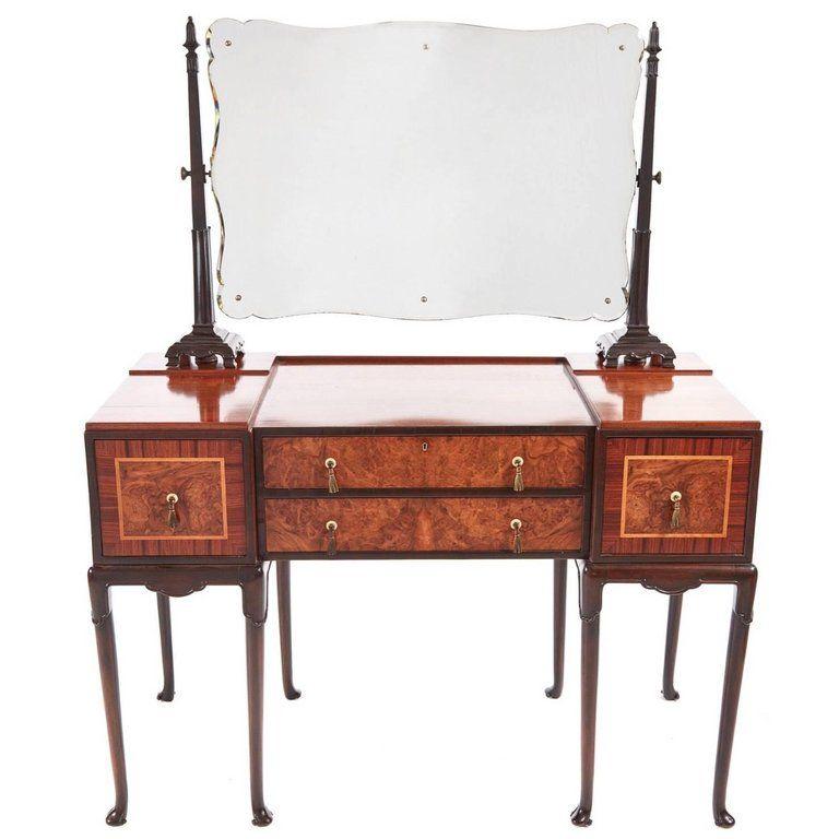 unusual burr walnut art deco dressing table dressing tables rh pinterest com