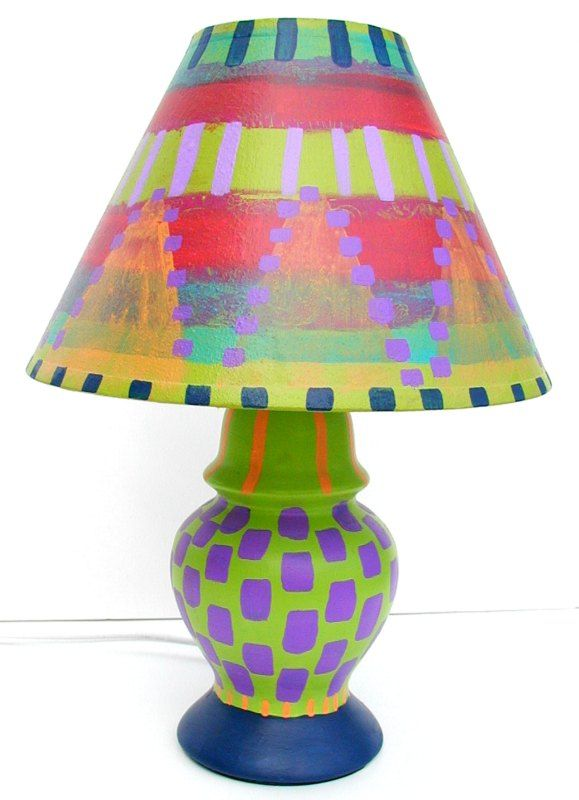 Google Image Result For Http Www Theartfulhomedomain Com Images Hand 2520painted 2520lamps 25201 Painting Lamps Painting Lamp Shades Funky Painted Furniture