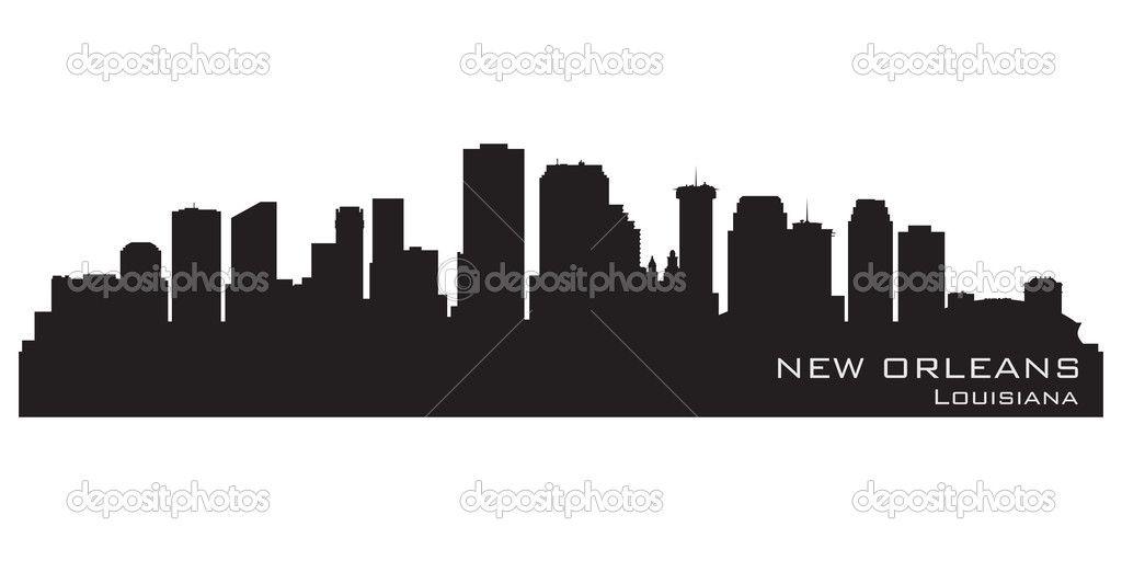 New Orleans Louisiana Skyline Detailed Vector Silhouette New Orleans Skyline New Orleans Louisiana