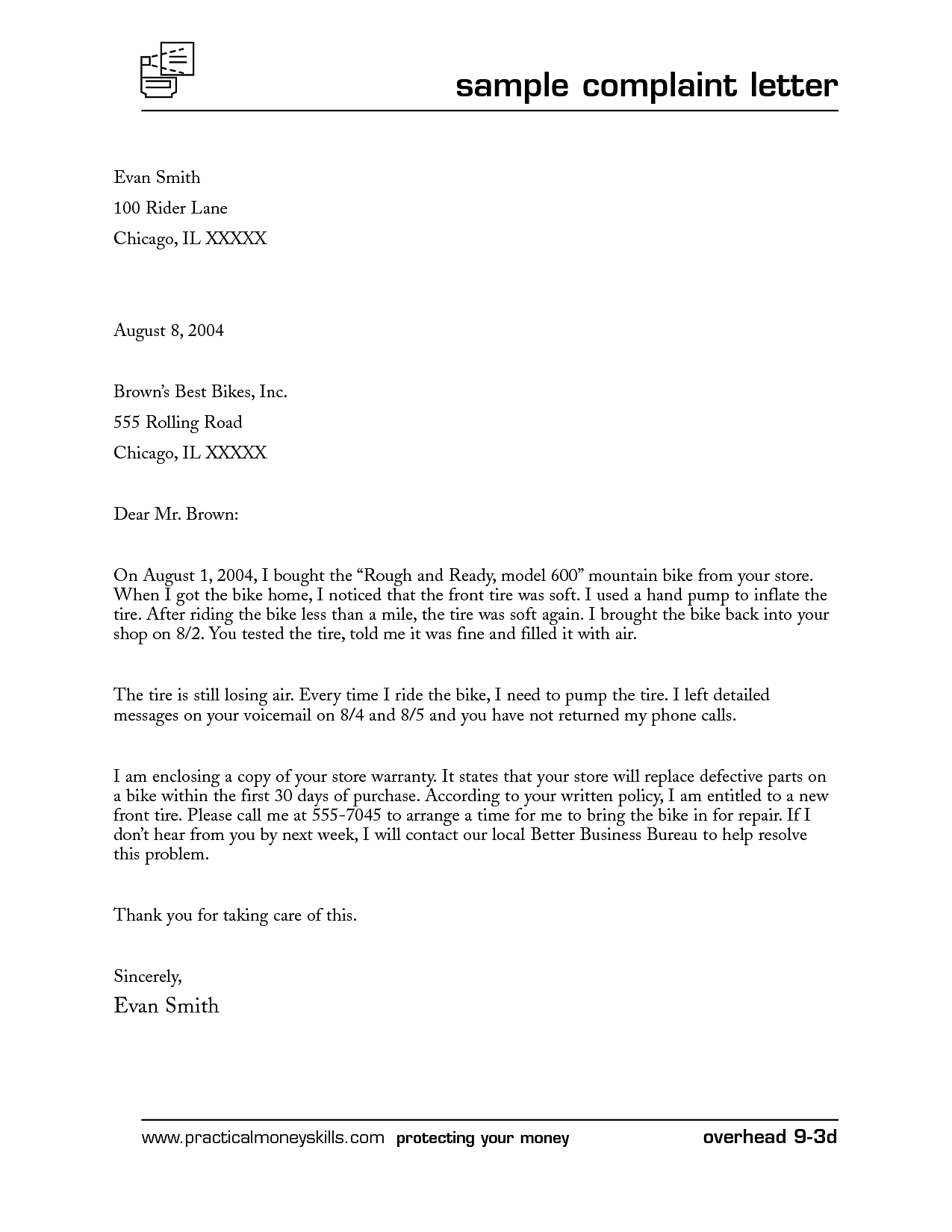Complaint Letters Template Contract Templates Word Sle Letter