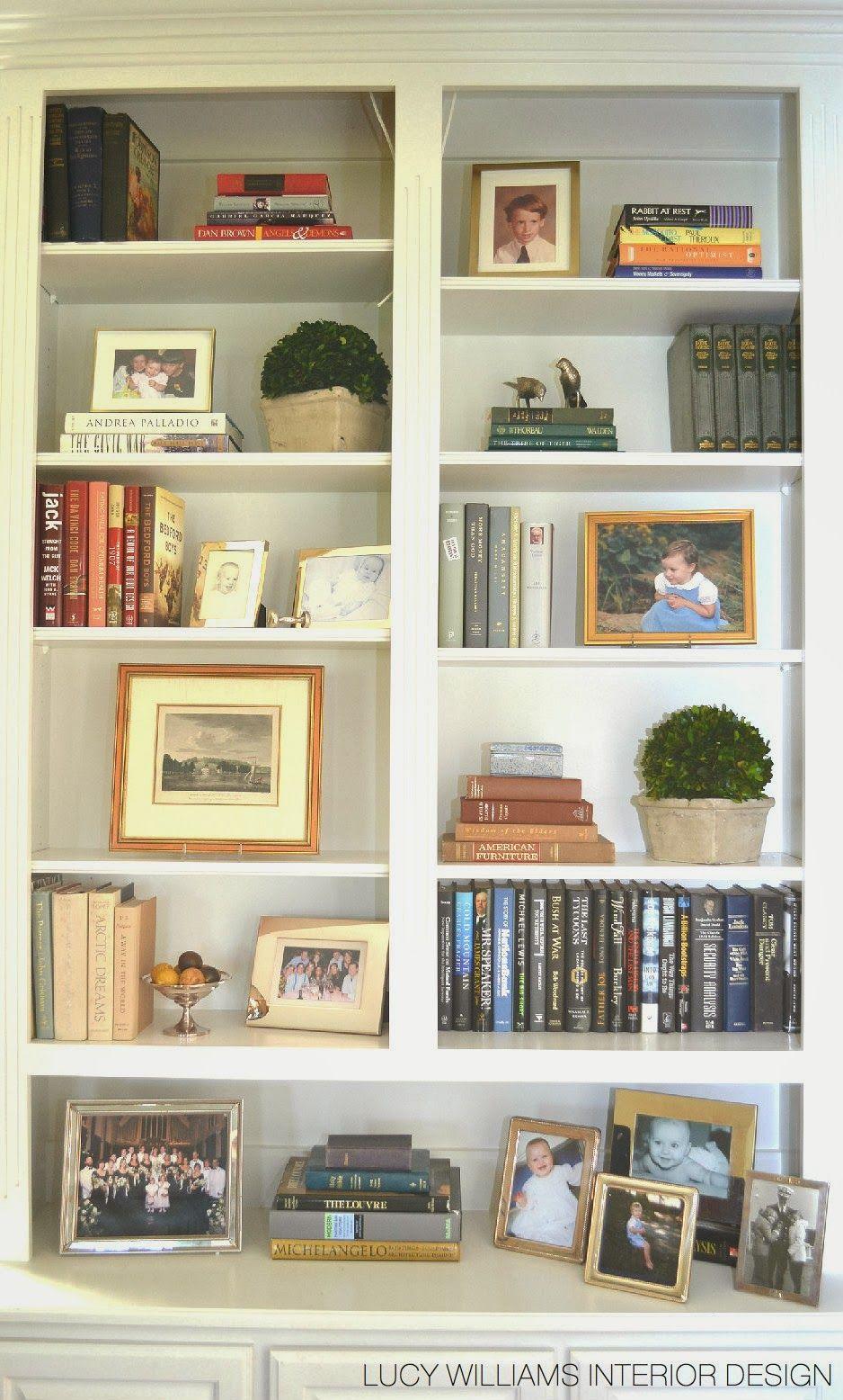 Styled Family Room Bookshelves Decorating Bookshelves Family Room Design Living Room Shelves