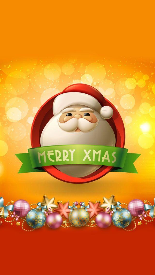 Ho Ho Ho! Merry Xmas! iPhone HD wallpaper. Beautiful #christmas pics ...
