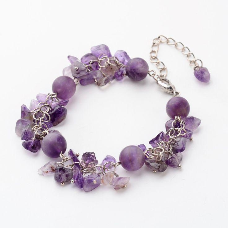 "Natural Gemstone Chip Beads Bracelets from <a href=""http://Pandahall.com"" rel=""nofollow"" target=""_blank"">Pandahall.com</a>"