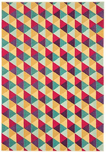 Teppich modernes Design COLORES TRIANGLE RUG MULTI 160 cm x 230 cm