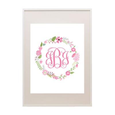 free floral wreath printable monogram maker