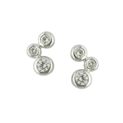 dbf53f31d05e0f Luxury Bubble 3 Stone White Gold Diamond Stud Earrings  http://www.londonroadjewellery