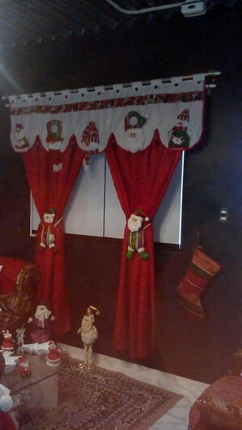 Cortinas Navidad Pinterest Cortinas, Navidad y Agarrados