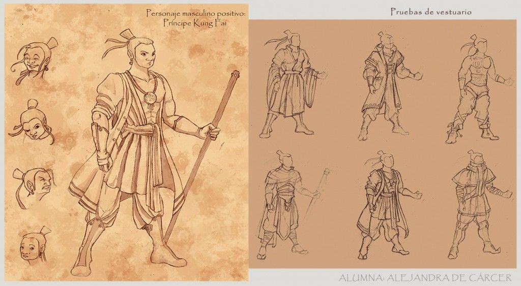 Creación de Personaje y bocetos de vestimenta en las clases de Ilustración Tradicional.  http://www.arteneo.com/
