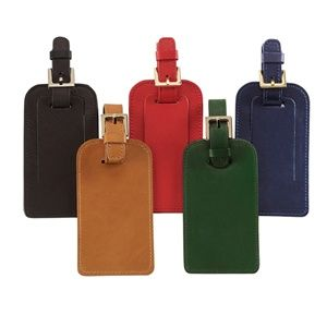 Graphic Image Luggage Tag, Traditional Leather