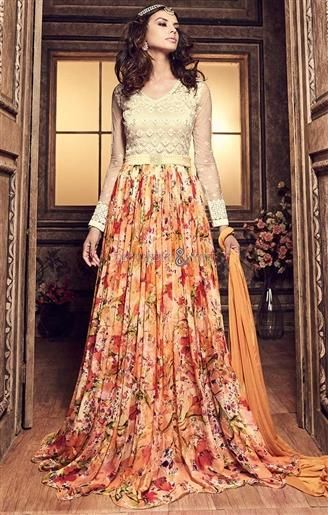 Indian Party Gown Design at Best Price Online Shopping For Young ...
