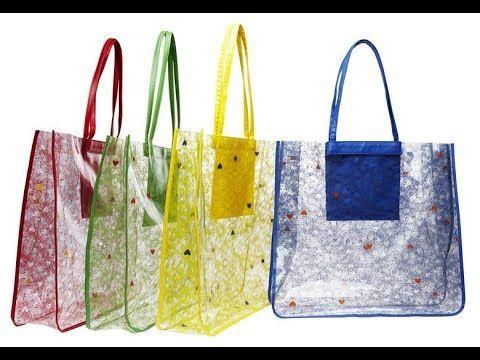 f24529a8e Artesanato - Bolsa de Praia Transparente - Fácil | Bolsas | Craft ...