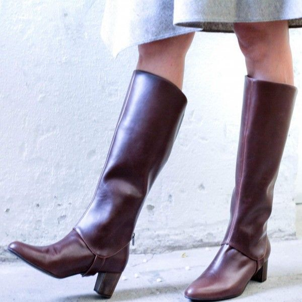 Maroon Chunky Heels Long Boots Fashion Knee-high Boots -  Maroon Chunky Heels Long Boots Fashion Knee-high Boots for Work, Party, Night club, Dancing club, Music festival, Date, Going out   FSJ #highheels #heels #platgorm #toptags   - #Boots #Chunky #Fashion #heels #KneeHigh #long #longbootsoutfitnight #Maroon