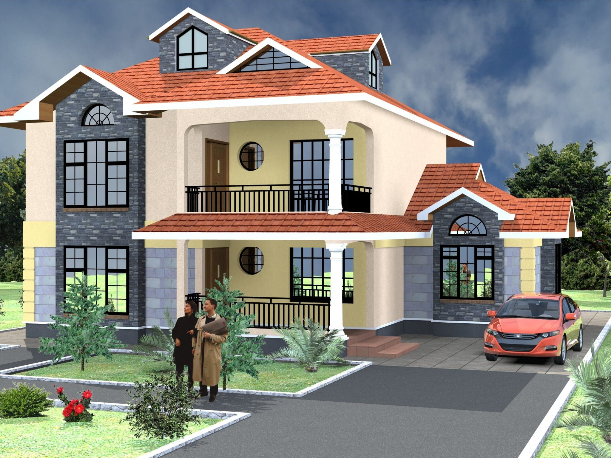 4 Bedroom Design 1016 A In 2020 Modern Bungalow House Superior Homes House Designs In Kenya