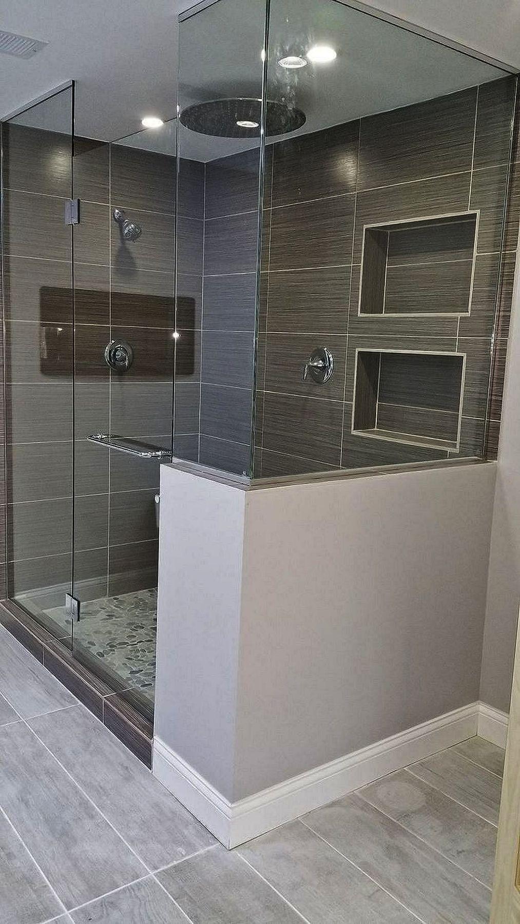 White Floating Shelves In The Bathroom