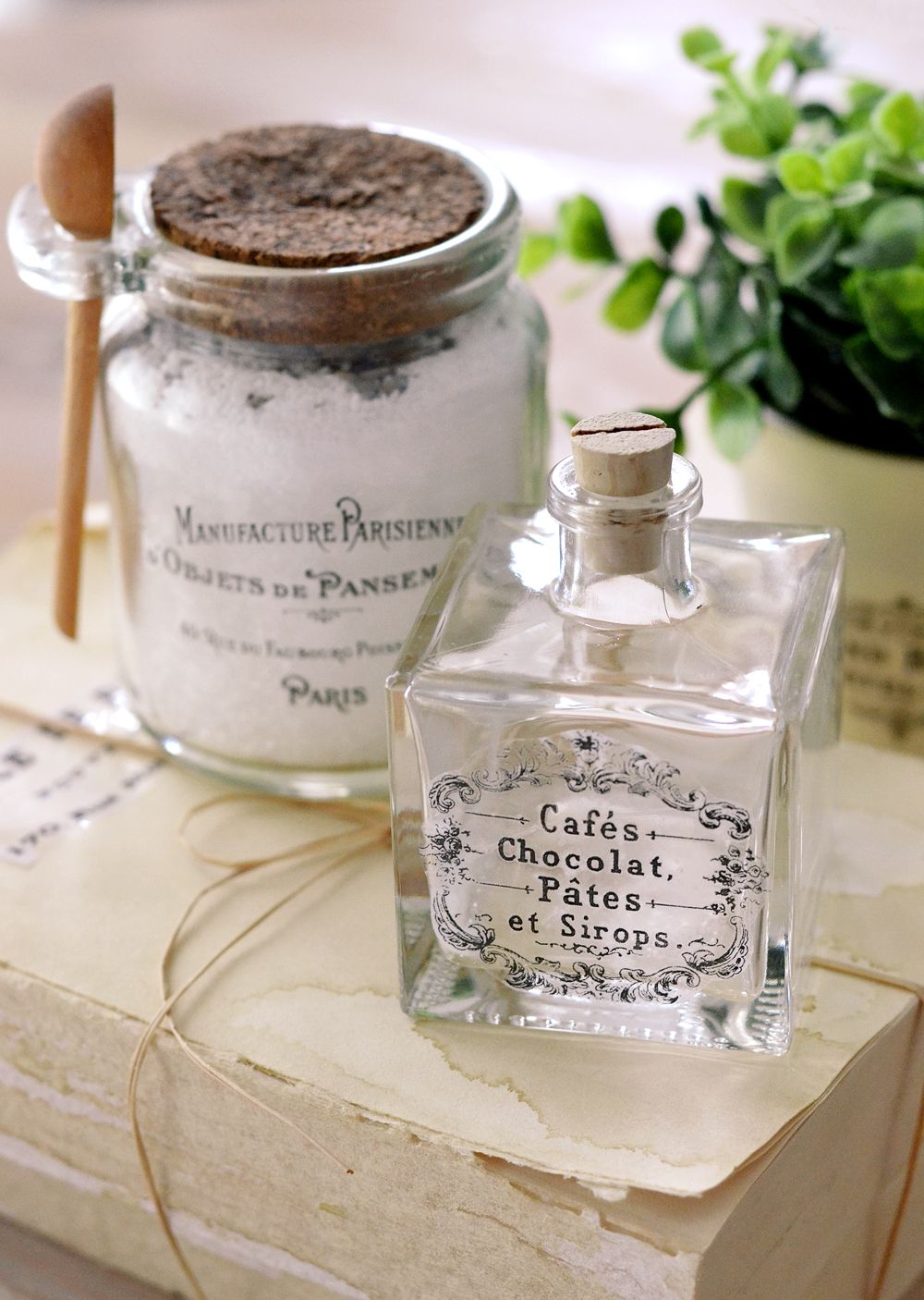 Diy clear french labels project free printable project