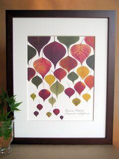 Image result for pressed leaf art