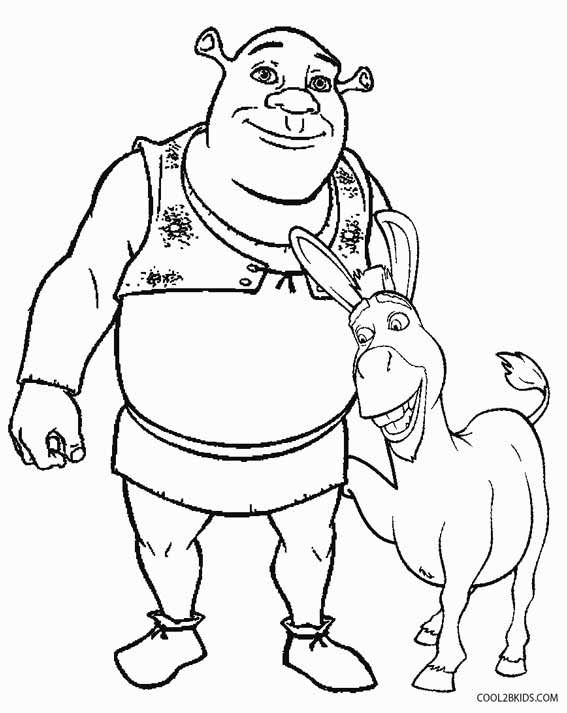 Shrek Coloring Pages Coloring Pages Disney Coloring Pages