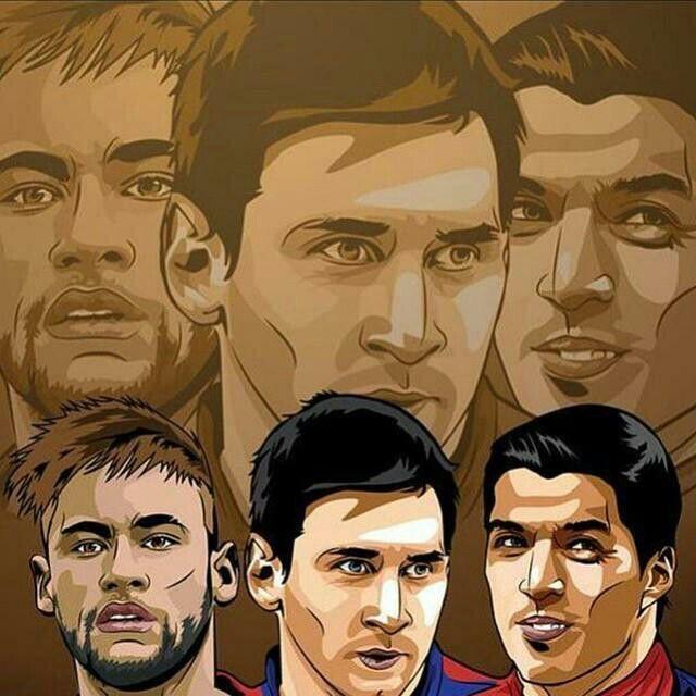 Jugadores De Dibujos Animados Dibujos Neymar Barsa