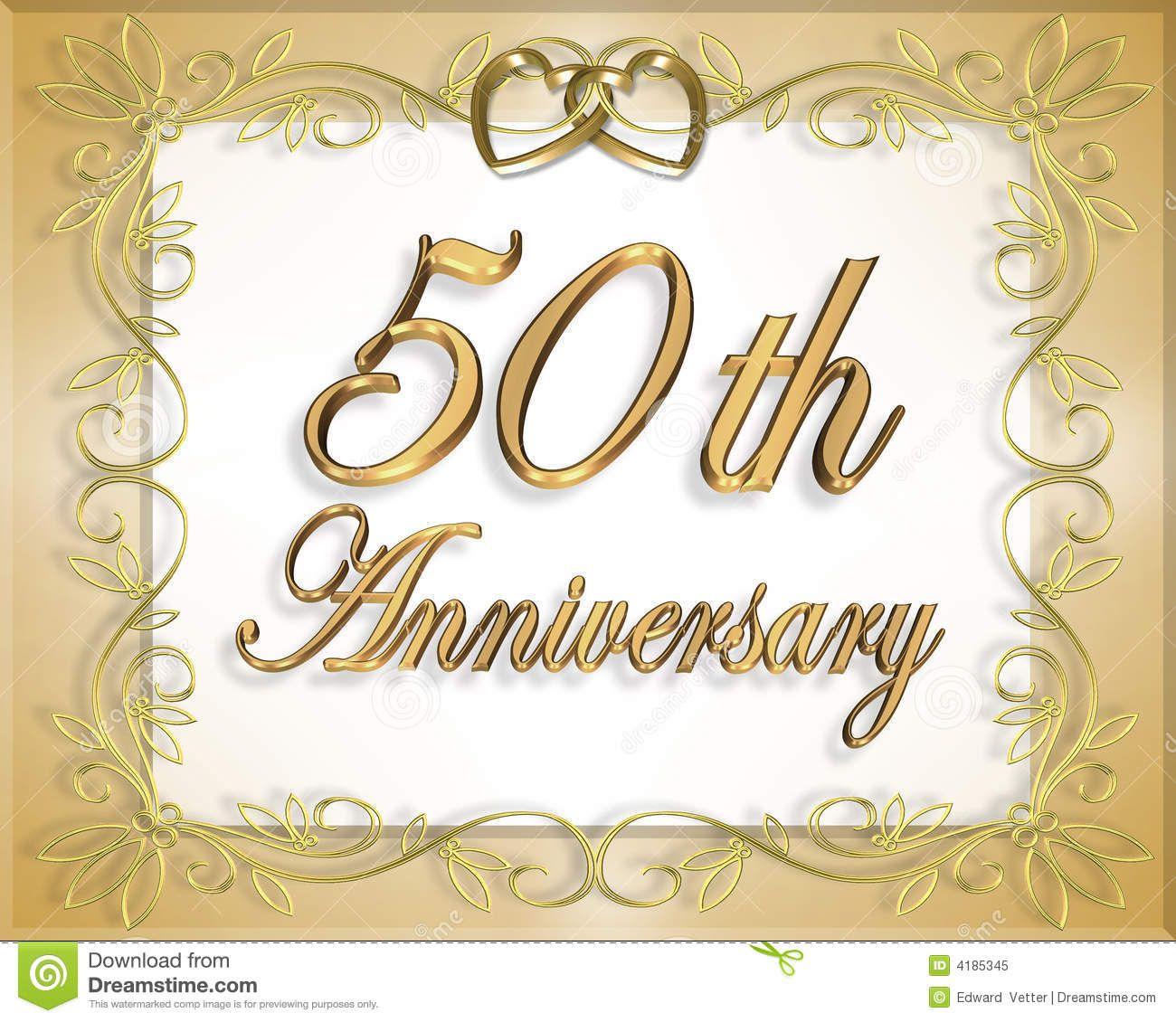 50th Wedding Anniversary Card Royalty Free Stock Image