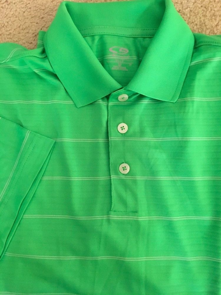 52f6a4fa8 Champion Advance High Perfomance Duo Dry Cutgrass Green White Golf Shirt M  NWT #fashion #clothing #shoes #accessories #mensclothing #shirts (ebay link)