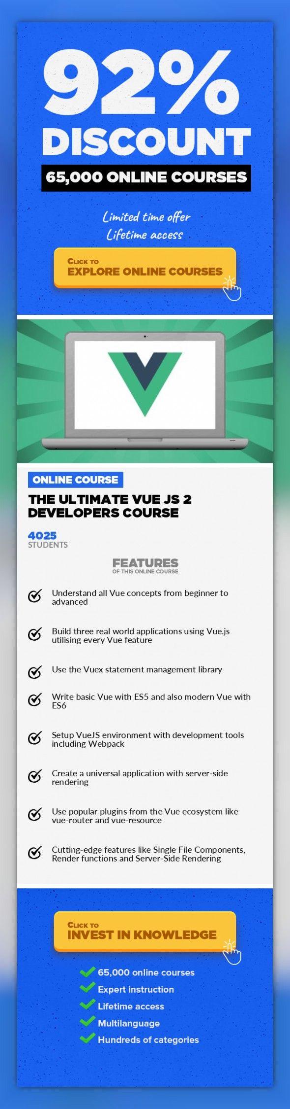 the ultimate vue js 2 developers course web development development