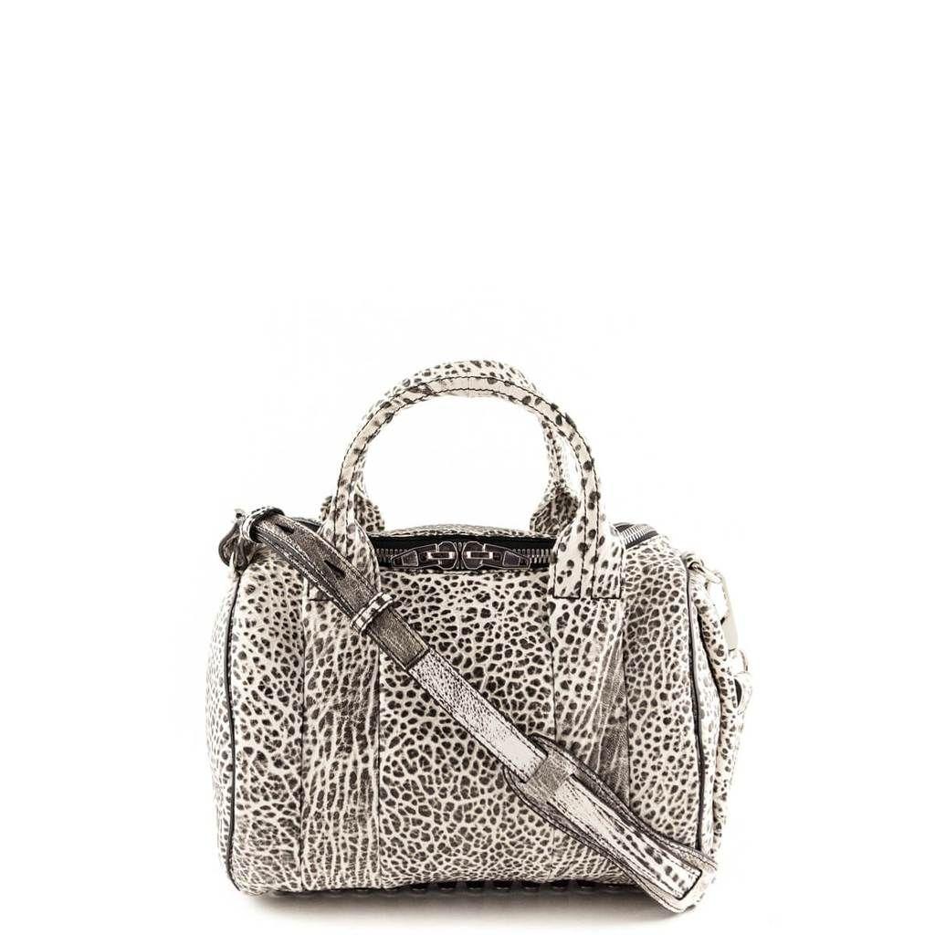 6b6f3e333fad Alexander Wang Black White Speckled Rockie - LOVE that BAG - Preowned  Authentic Designer Handbags -