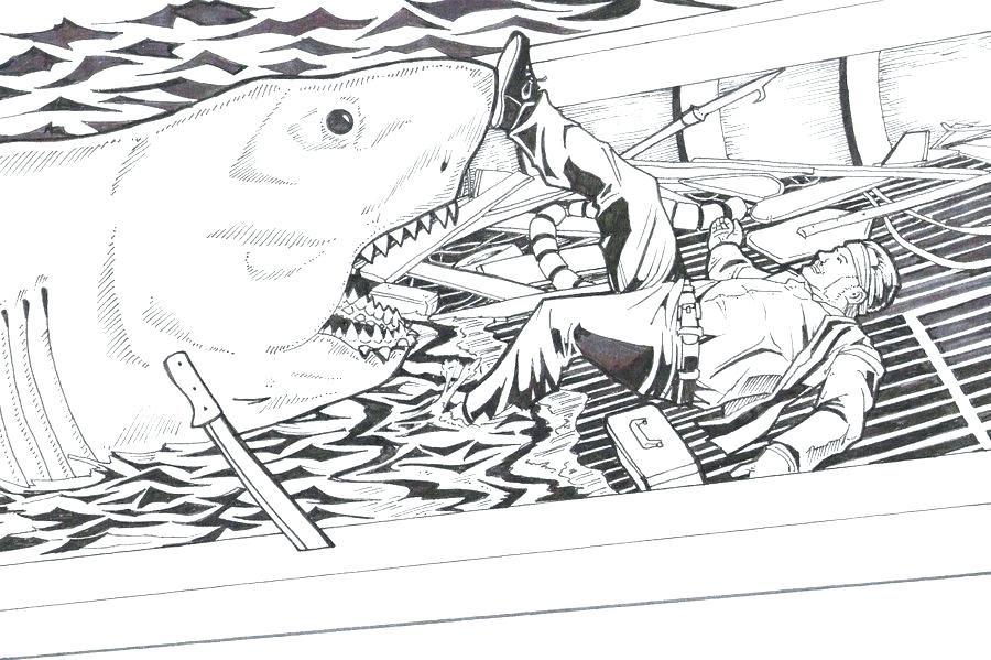 jaws coloring pages jaws coloring pages free get high ...