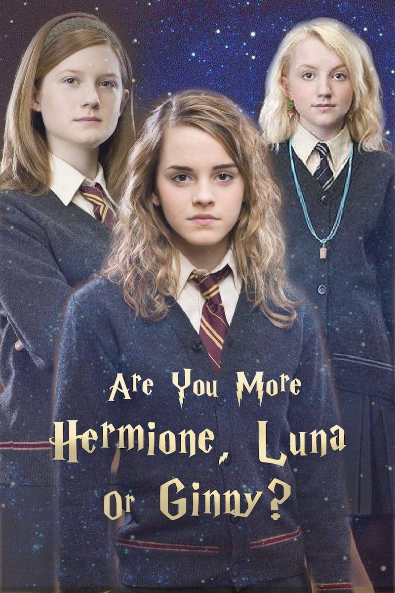 Harry Potter Quiz Are You More Hermione Luna Or Ginny Harry Potter Quiz Harry Potter Ginny Harry Potter Hermione