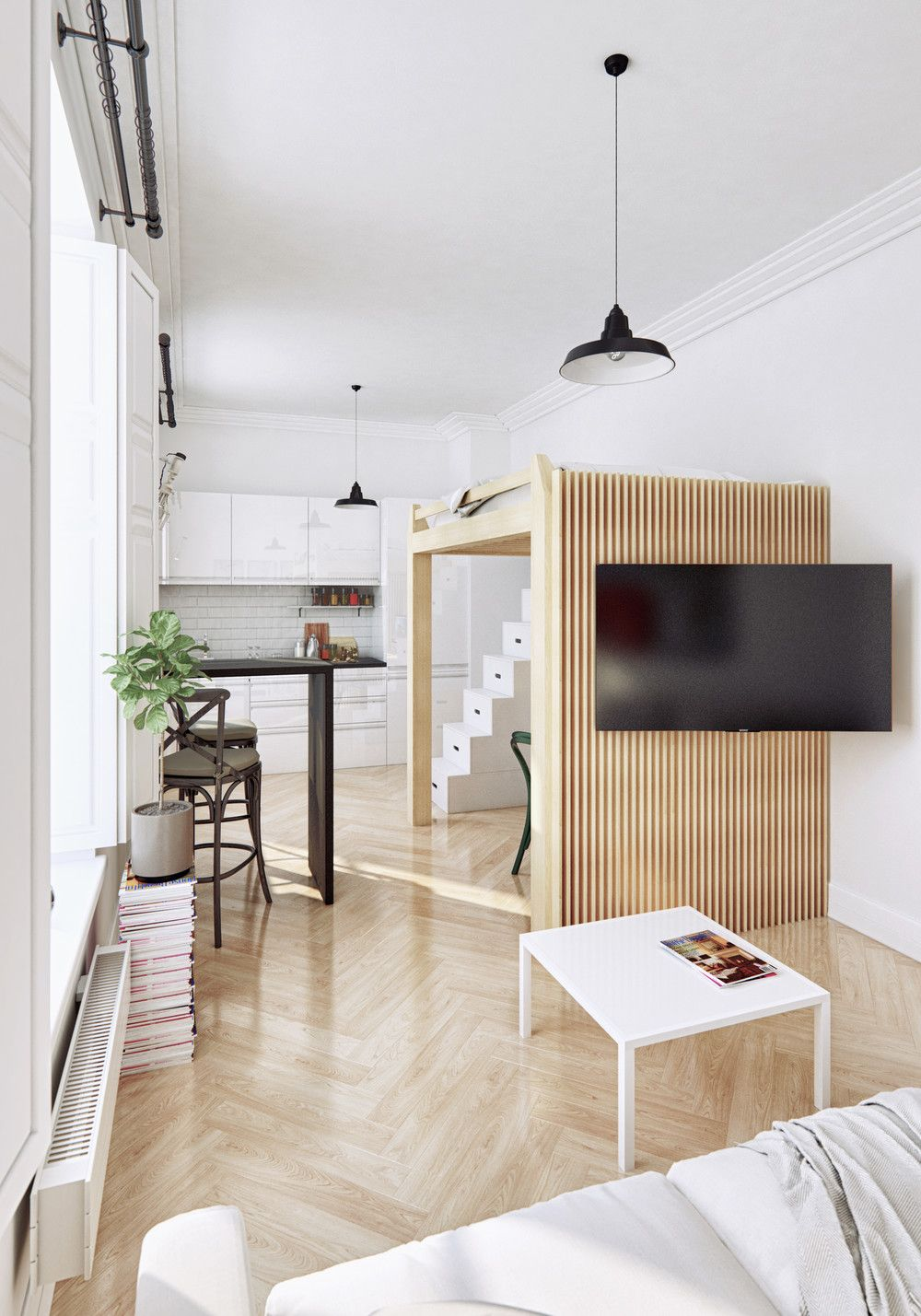 2 Small Apartment with Modern Minimalist Interior Design | Small ...