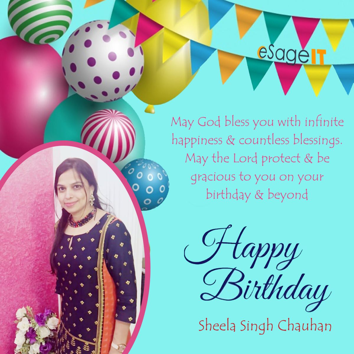 Many Many Happy Returns Of The Day From The Whole Team Of Esageit May God Bless You With Infinite Happiness It S Your Birthday Happy Birthday God Bless You