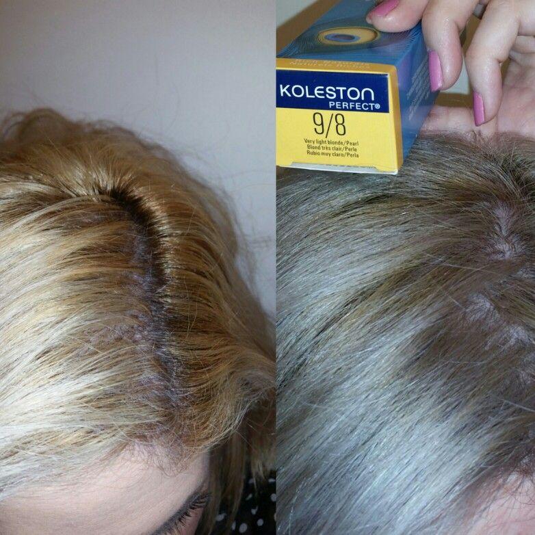 I applied on towel dried hair, Wella Koleston 15/15 with Wella ...