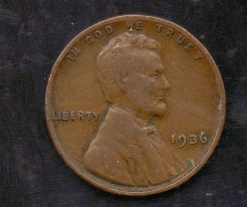 1936 Lincoln Cent Wheat Penny No Mint Mark Us Seller Rare Coins