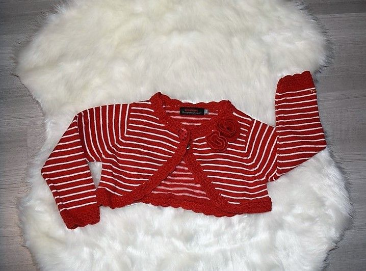c3c035975435f Catimini gilet boléro a rayure rouge et blanc 2 ans noel - couleur de noel  pour